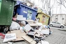 Tříděný odpad nebylo přes svátky kam odvážet. Separační dvory měly zavřeno.