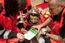 Cvičení Zdravotnické záchranné služby Pardubického kraje.