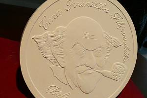 Odlitek medaile Františka Filipovského.