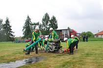 Sbor hasičů z Malých Výklek soutěží v zelenožluté barvě. A ta zatím nosí úspěchy.