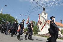 Oslavy 135 let od založní bohdanečských dobrovolných hasičů.