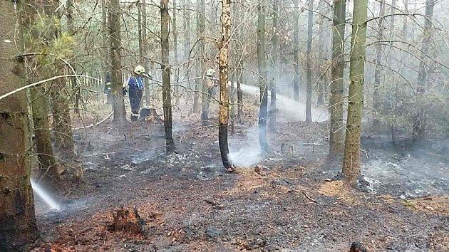 Pondělní podvečer uSemína na Přeloučsku. Hasiči bojovali spožárem lesa. Už zase…