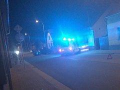 Dopravní nehoda na ulici Generála Svobody v Rosicích nad Labem.