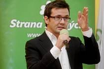 Šéf Strany zelených Ondřej Liška na sjezdu