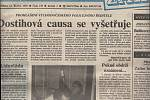 První strana Pardubických novin ze dne 14. října 1992. Zdroj: Státní okresní archiv Pardubice