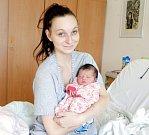 MIA ŠŤASTNÁ se narodila 26. září v 1 hodinu a 44 minut v noci. Měřila 49 centimetrů a vážila 3180 gramů. Rodiče Petra a Milan bydlí v Pardubicích.