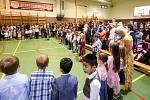 Slavnostní přivítání prvňáčků do školního roku na ZŠ Bratranců Veverkových v Pardubicích.