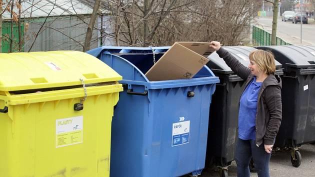 Odpad třídí v Pardubicích stále více lidí.