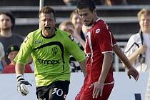 Luděk Frydrych úspěšně kryl proti Hradci i jeden penaltový pokus