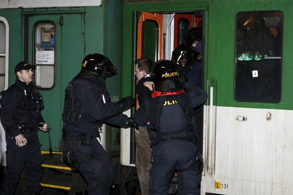 Pořádková jednotka si pro dotyčného došla přímo do vlaku