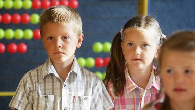 Prvňáčci a začátek školního roku na pardubické ZŠ Benešovo náměstí