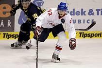 Hokejové utkání Pardubice  –  HV 71  3:2  (1:0, 0:0, 2:1).