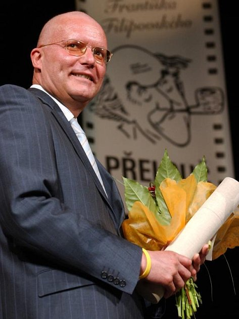 Michal Rabas na předávání cen za dabing v Přelouči, 2006
