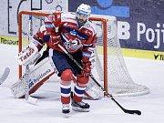 Obránce hokejových Pardubic Petr Čáslava.