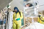 Krom přetlakových skafandrů je někdy možno použít jen dýchací masky a neprodyšný oblek.