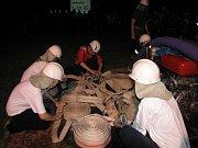 Noční útok v podání slepotických hasičů