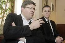 Jiří Pospíšil na návštěvě v pardubické pobočce ODS