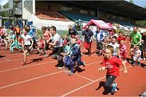Dětský den s atletikou v Pardubicích.