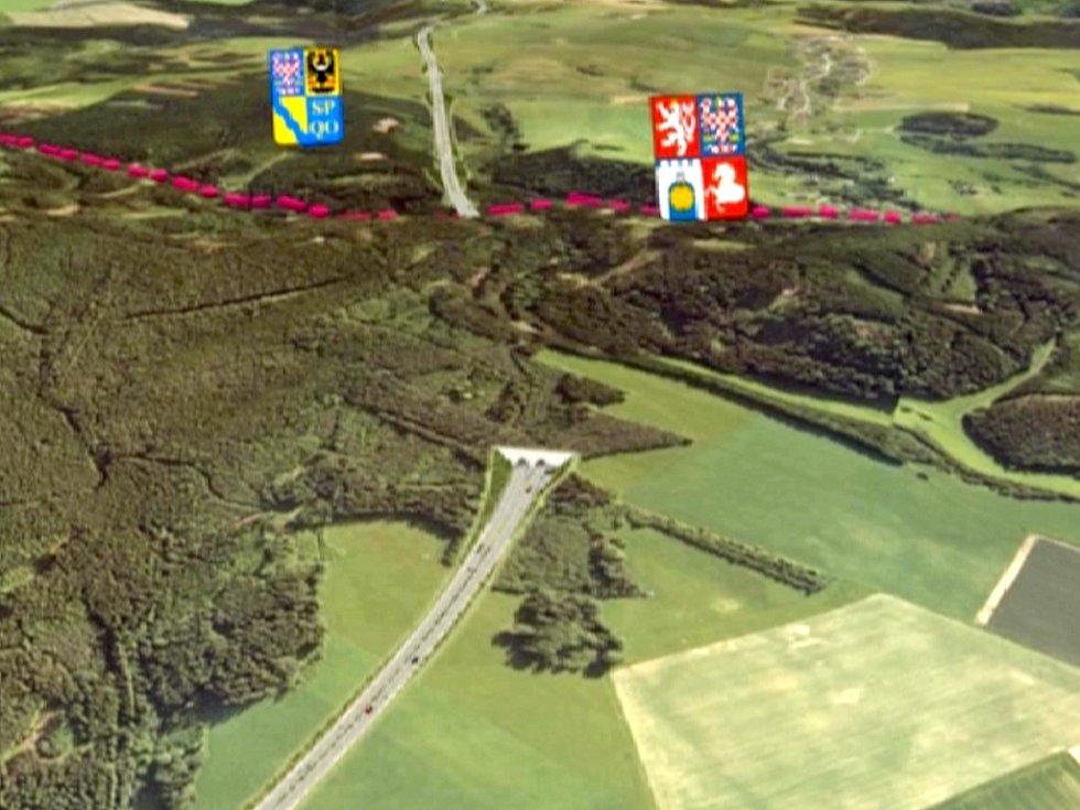 Vizualizace rychlostní silnice R35 v úseku Třebařov - Maletín