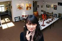 Galeristka Klára Spolková ve svém království
