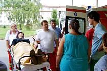 Cvičná evakuace LDN v Rybitví.