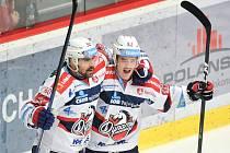 5. čtvrtfinále Třinec - Pardubice (3:2).