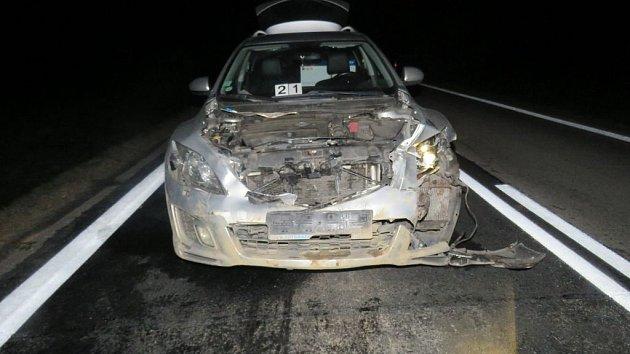 Ani auto nevypadalo po střetu s divočáky moc pojízdně.