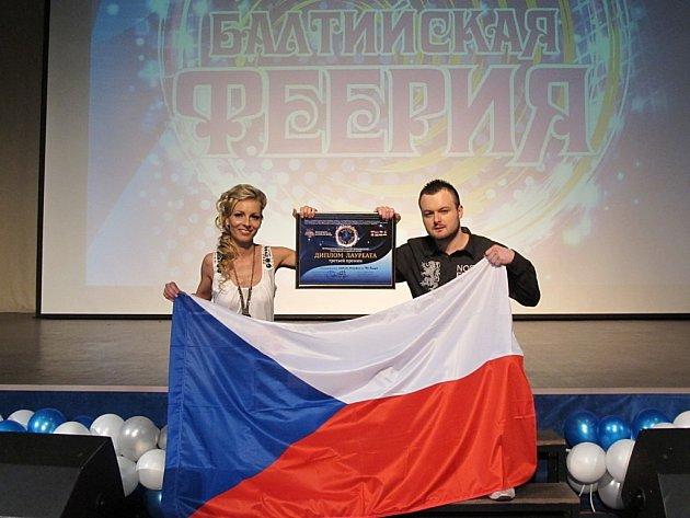 Petr Dvořák a Helena Hamplová uspěli na soutěži v ruském Petrohradu. Skončili na třetím místě.
