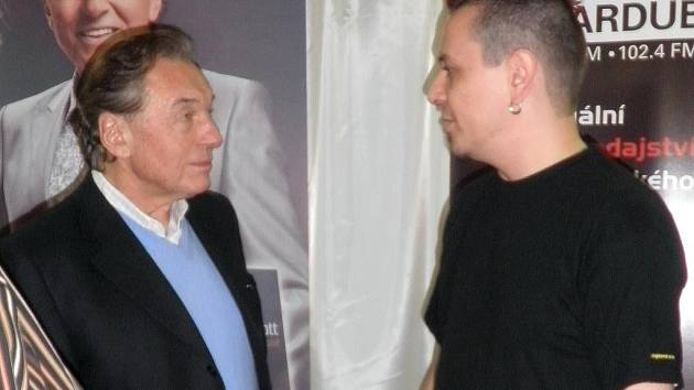 Jiří Ševčík s Karlem Gottem
