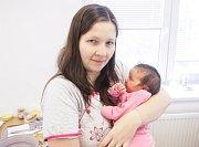 LUCIE PETERKOVÁ se narodila 27. února v 8 hodin a 51 minut. Vážila 3450 gramů. Maminka Veronika a tatínek Vojtěch bydlí ve Spojile, kde se už na malou Lucii těší 2,5letá Anežka.