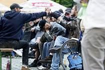 Bezdomovci na Pernštýnském náměstí