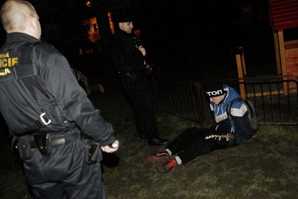Zadržení pachatele při vloupání do mateřské školky ve Svítkově hlídkou Městské policie Pardubice.