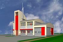 Stavba moderní hasičárny v Opatovicích se blíží do finále