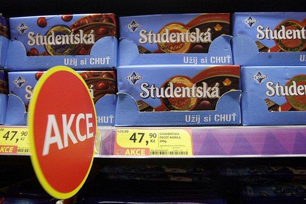 """Čokoláda Studentská pečeť v """"akci"""""""