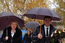 Ivo Toman na pohřbu Michala Rabase