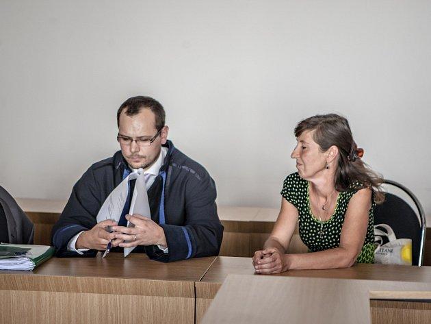 K soudu dorazila jen Romana Vojířová, Michal se strašek se omluvil.