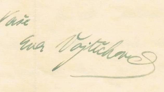 Podpis Evy Vojtěchové.