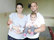 FRANTIŠEK MACEK se narodil 11. července v 9:13 hodin mamince Zuzaně a tatínkovi Františkovi. Vážil 3,64 kilogramu a měřil 52 centimetrů. Doma v Pardubicích na bratříčka čeká Zuzanka (19 měsíců).
