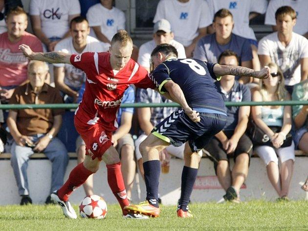Druholigový nováček z Pardubic sice proti prvoligové Jihlavě vedl, nakonec ale hosté na stadionu v Lázních Bohdaneč srovnali na 2:2.
