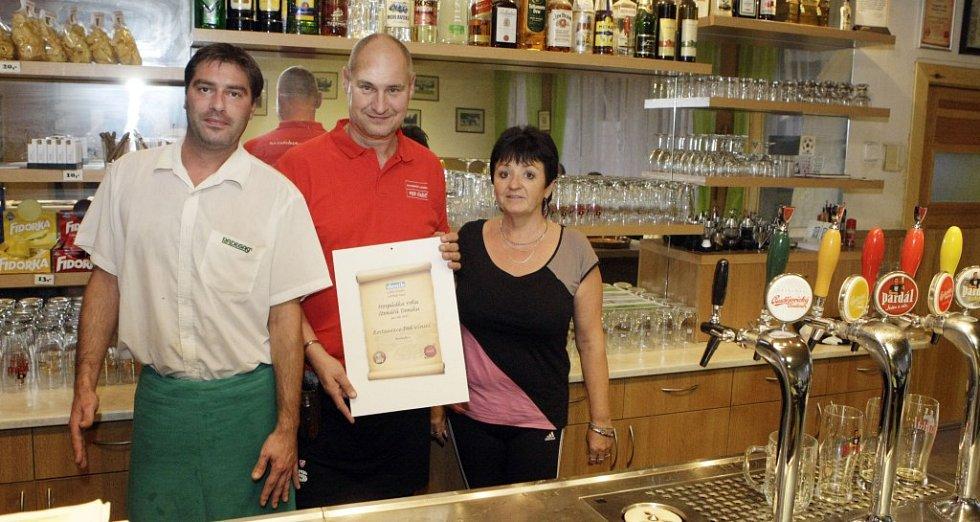 Hospůdkou roku 2012 se stala restaurace Pod Vinicí.