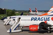 Pardubické letiště přijímalo letouny z Prahy