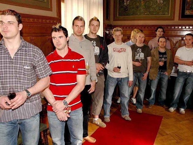 Pardubický primátor přijal hokejisty HC Moeller Pardubice.