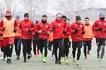 První trénink FK Pardubice v zimní přípravě.