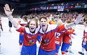 Finále hokejbalového Mistrovství světa žen mezi Českou republikou a USA v pardubické Tipsport Aréně.