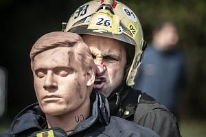 Jen nejtvrdší hasič přežije. Rozhledna Andrlův chlum viděla i letos extrémní sportovní výkony.