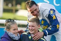 """Marek Stromský s rodinou na """"bedně"""""""