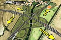 Opatovice. Největší mimoúrovňová křižovatka v České republice z ptačí perspektivy