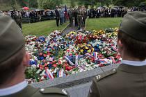 Ležáky 2016 - pietní akt k 74. výročí vypálení osady nacisty.