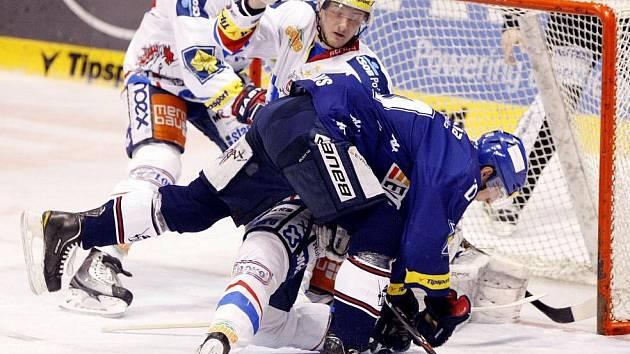 Hokejisté HC Eaton Pardubice prohráli ve třetím utkání semifinále play off s Vítkovicemi 0:3.