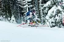 Alpský lyžař David Kubeš na MČR 2021 ve Špindlerově Mlýně
